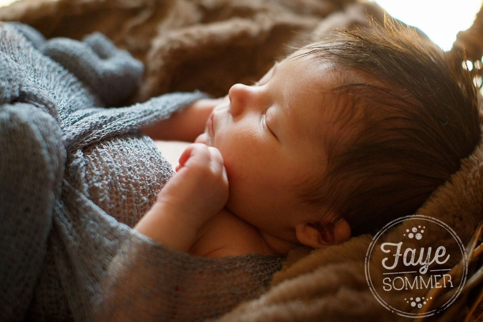 close up of baby during dayton newborn photography session