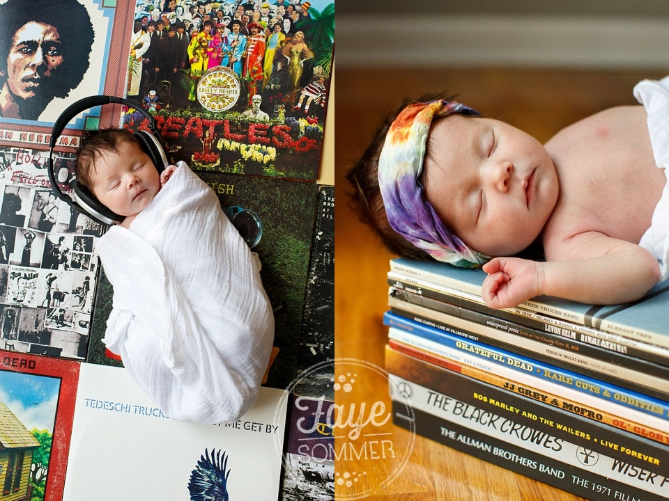 dayton newborn photographer captures baby with records
