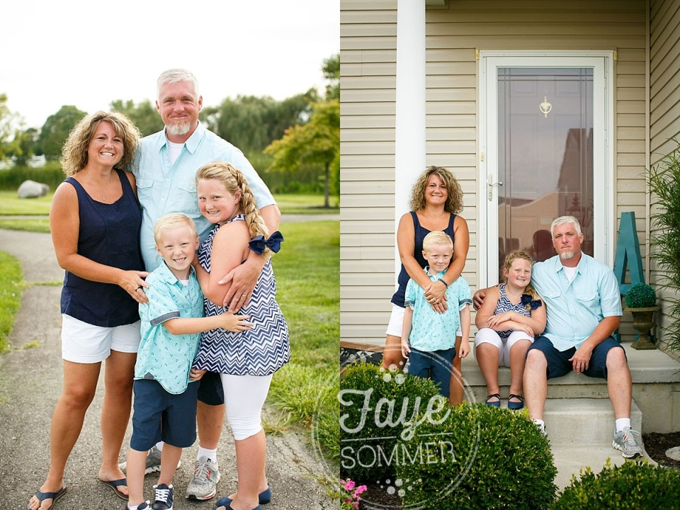 tipp city ohio family photography with family hugging