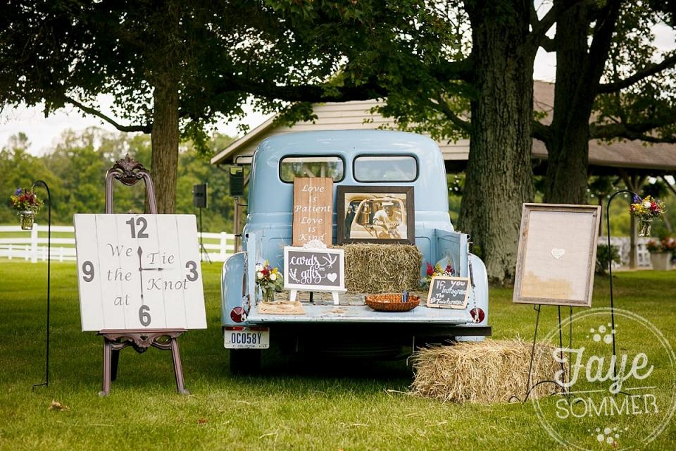 Vintage truck by Dayton Ohio Wedding Photographer
