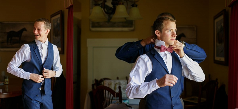 Groom gets ready with Dayton Ohio Wedding Photographer