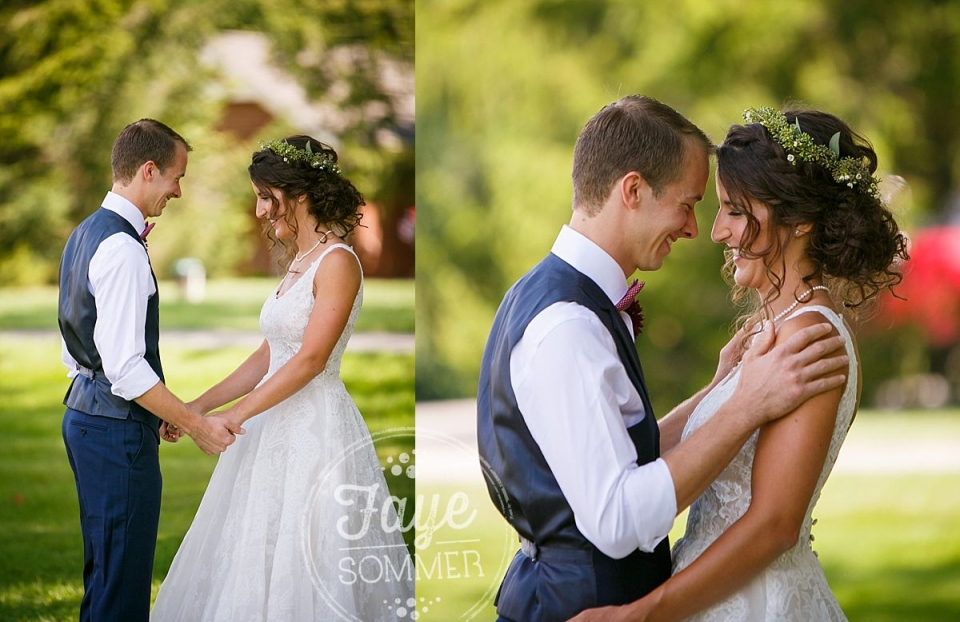 bride and groom by Dayton Ohio Wedding Photographer