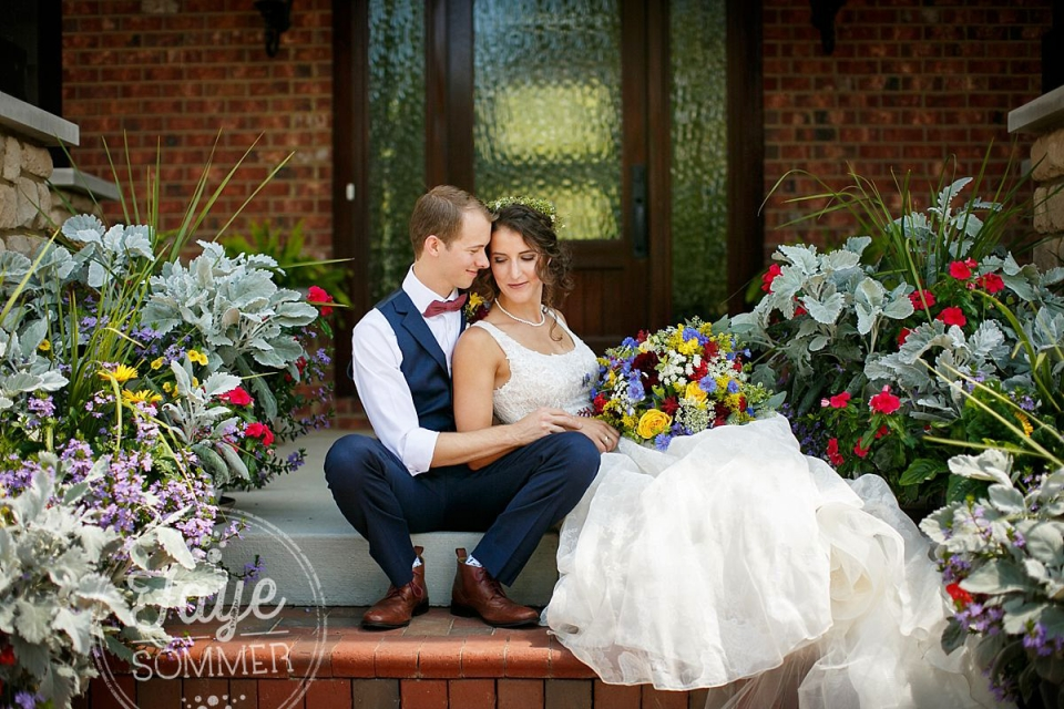 Couple captured by Dayton Ohio Wedding Photographer