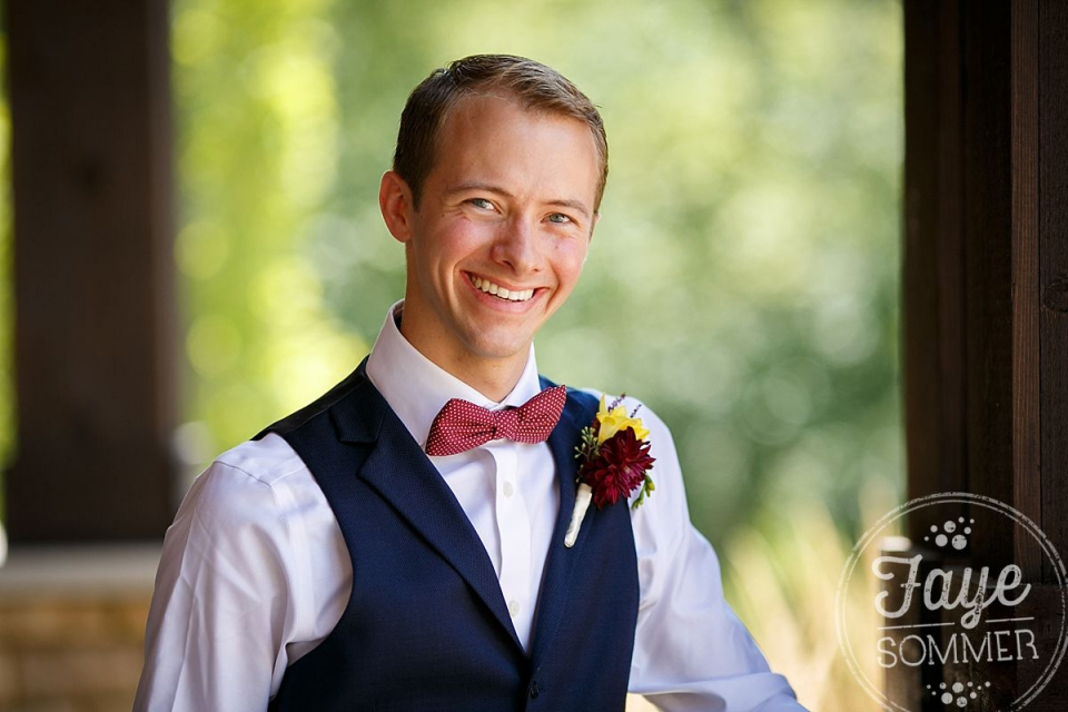 Happy groom by Dayton Ohio Wedding Photographer