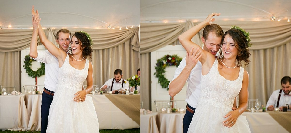 Dayton Ohio Wedding Photographer captures reception