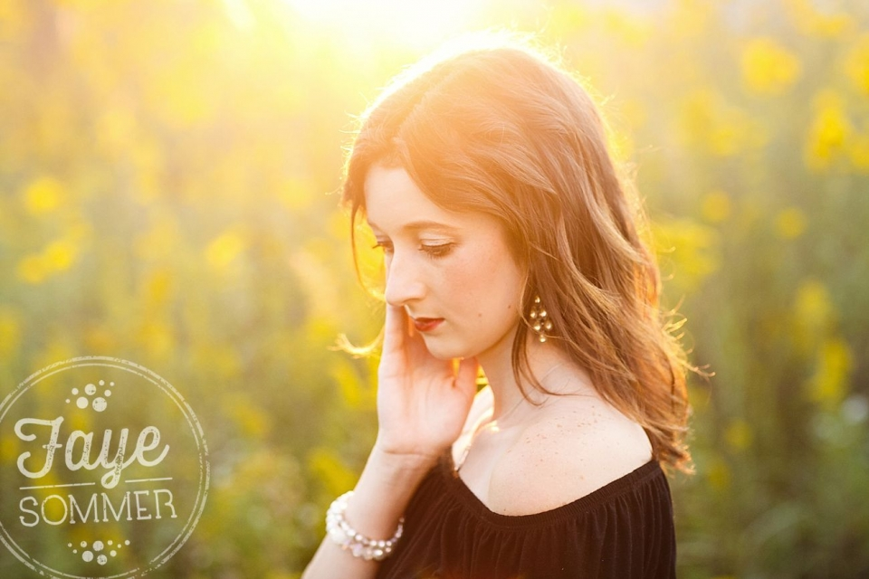dayton ohio senior photography flower fields