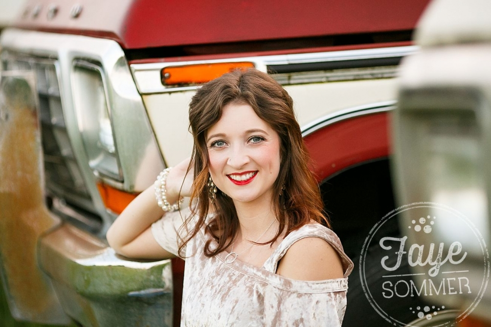 vintage ford truck senior photography