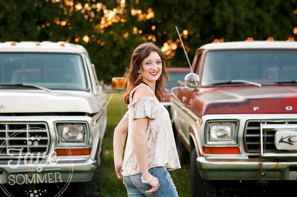 Dayton ohio senior session vintage trucks
