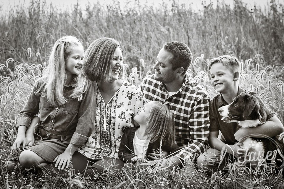 ohio black and white family photography