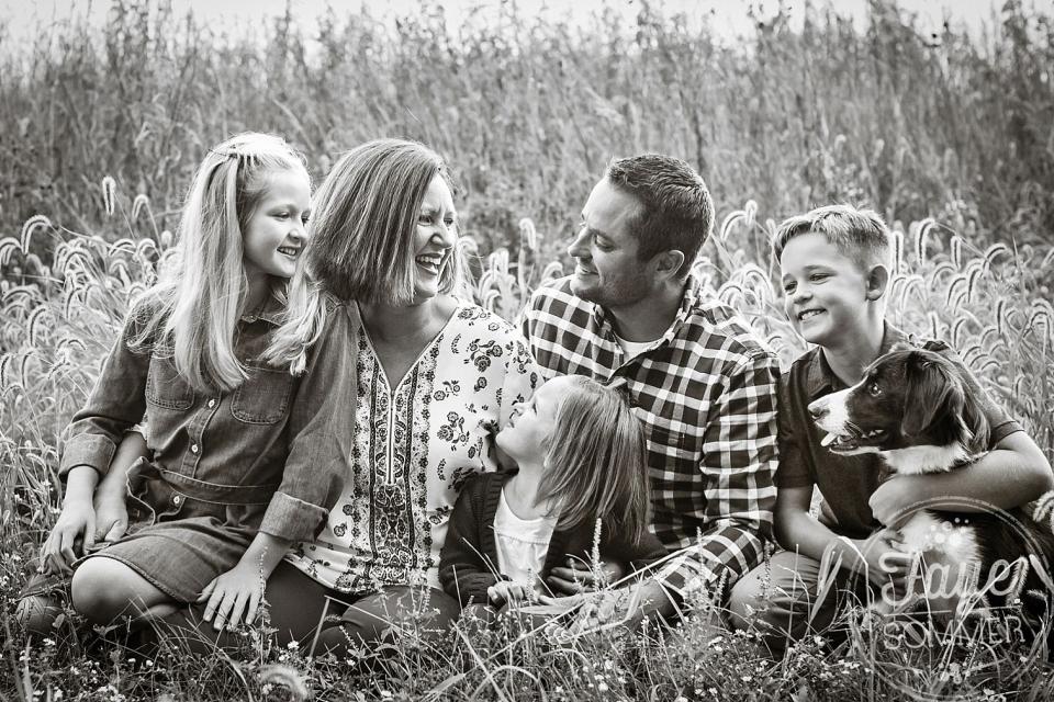 ohio black and white family photography