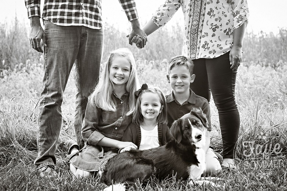 tipp city family photography with dog